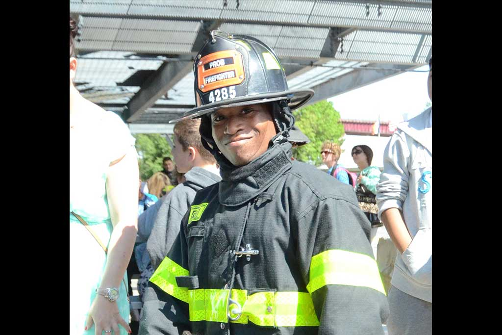 Firefighter Tristen Echols